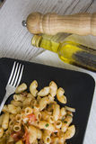 Rigati italiano con aceite picante Imagen de archivo