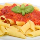 rigatoni макаронных изделия еды стоковое фото