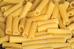 Rigatoni. Italian rigatoni pasta background. Close-up Stock Photo