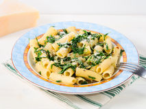 Rigatoni with arugula and chia Stock Photography