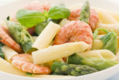 Rigatoni with Asparagus Royalty Free Stock Photo