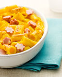 Rigatoni au gratin with mortadella Royalty Free Stock Images