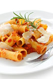 Rigatoni bolognese , italian pasta dish Stock Photo