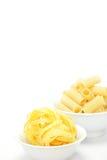 Rigatoni e Fettuccine Fotografia Stock
