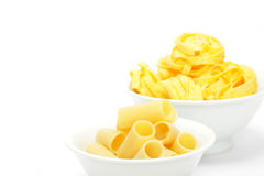 Rigatoni and  Fettuccine Royalty Free Stock Image