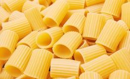 Rigatoni italian pasta background Royalty Free Stock Image