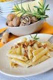 Rigatoni and nuts cream Stock Photo