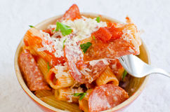 Rigatoni pasta Stock Photography