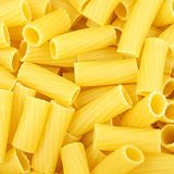 Rigatoni pasta background Royalty Free Stock Photos