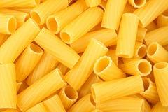 Rigatoni pasta background Stock Image