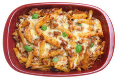 Rigatoni Pasta Bake Royalty Free Stock Images