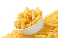 Rigatoni pasta in bowl Royalty Free Stock Image