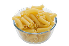 Rigatoni pasta in bowl Royalty Free Stock Photos
