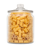 Rigatoni Pasta in a Glass Apothecary Jar Stock Photography