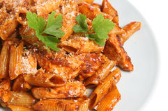 Rigatoni Pasta Meal Royalty Free Stock Images