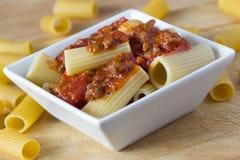 Rigatoni pasta Royalty Free Stock Image