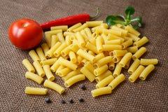 Rigatoni raw pasta Stock Photography
