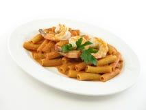 Rigatoni with shrimp Royalty Free Stock Photos