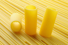 Rigatoni and spaghetti, italian pasta Stock Photography