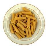 Rigatoni whole wheat pasta Royalty Free Stock Image