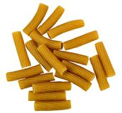 Rigatoni whole wheat pasta Royalty Free Stock Images