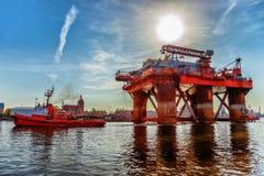 rigg för oljeport arkivbilder