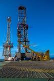 rigg för produktion för olja för brazil kust frånlands- royaltyfria bilder