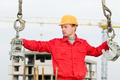Rigger builder with straps Royalty Free Stock Photos