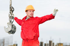 Rigger builder with straps Stock Photo