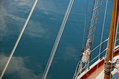 Rigging from above on a schooner Royalty Free Stock Photo