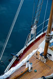 Rigging from above on a schooner Stock Images