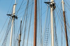 Rigging of a big sailing ship Stock Photo