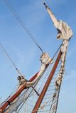 Rigging bowsprit of a sailing ship Royalty Free Stock Photography