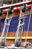 rigging för fartyg royaltyfria bilder