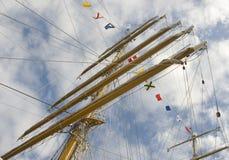 rigging för masts Arkivfoton