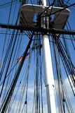Rigging with Flag Stock Image