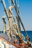 Rigging of an luxury yacht Royalty Free Stock Image