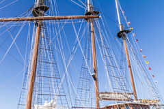 Rigging. The masts and ropes of a tall ship's rigging Royalty Free Stock Photography