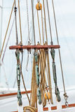 Rigging on an old Dutch sailing ship Royalty Free Stock Photography