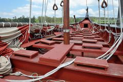 Rigging of an old sailboat. Image of rigging of an old sailboat royalty free stock photography
