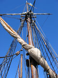 Rigging on an Old Sailing Ship Stock Photos