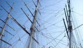 rigging ropes segelbåten Fotografering för Bildbyråer