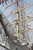 Rigging of the Russian windjammer Mir Stock Photo