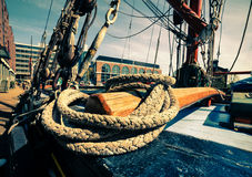Rigging on a sailing boat Stock Photography