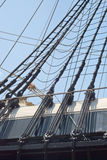 Rigging of a Sailing Ship Stock Image
