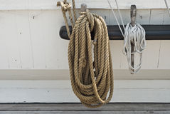Rigging of a Sailing Ship royalty free stock photos