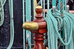 Rigging of a sailing ship Royalty Free Stock Photo