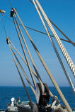 Rigging of a sailing ship Royalty Free Stock Image