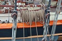 Rigging of a sailing ship. Part rigging of the sailing ship Royalty Free Stock Image