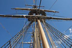 Rigging on a sailing vessel Stock Photos